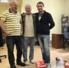 Б. Галкин, В. Ленский и я на репетиции к моему авторскому концерту.